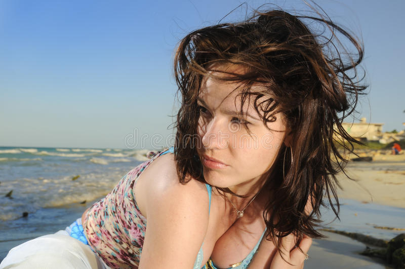 Strandschönheit stockfotografie