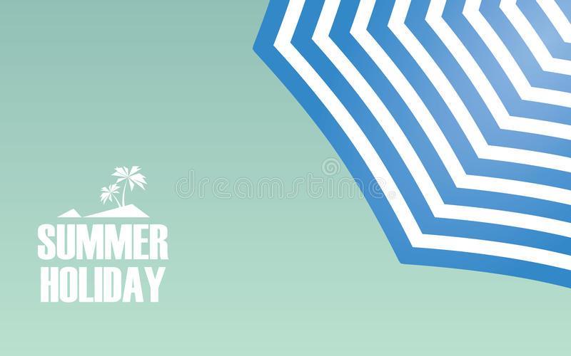 Strandschirmweinlese-Konzeptdesign mit Blau stock abbildung