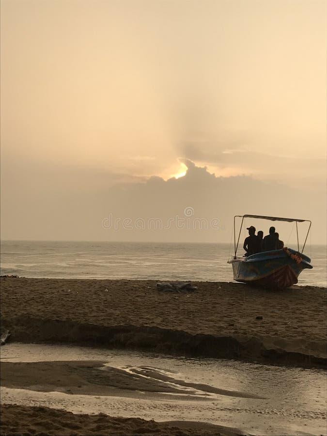 Strandseite in Sri Lanka stockfotos