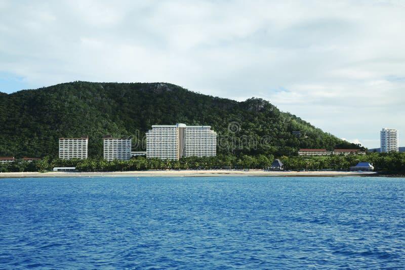 strandsemesterort royaltyfri foto
