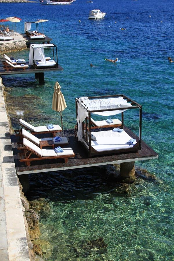StrandsemesterortHvar Kroatien arkivbilder