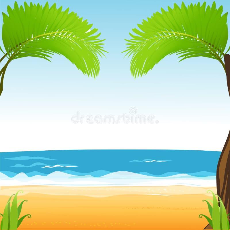 strandsikt vektor illustrationer