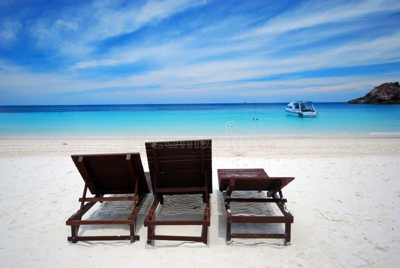 strandsikt royaltyfri bild