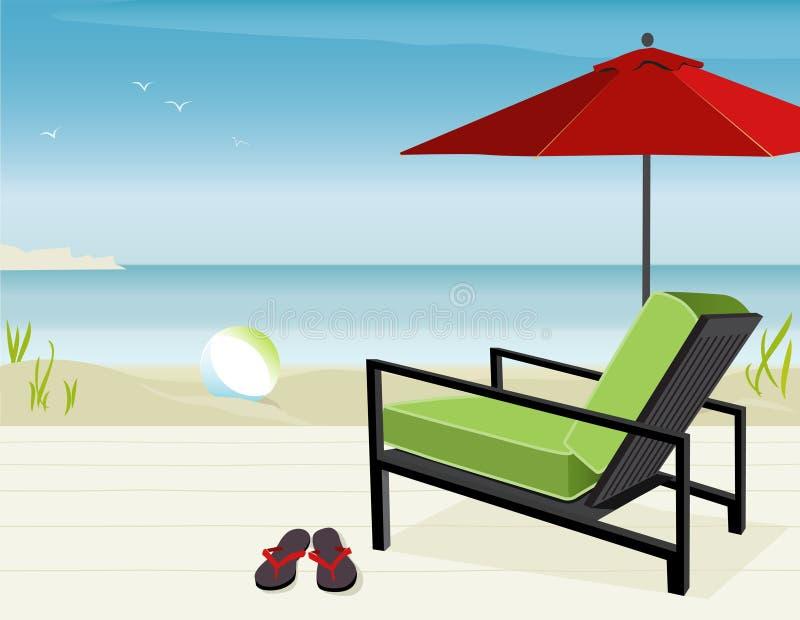 strandsikt stock illustrationer