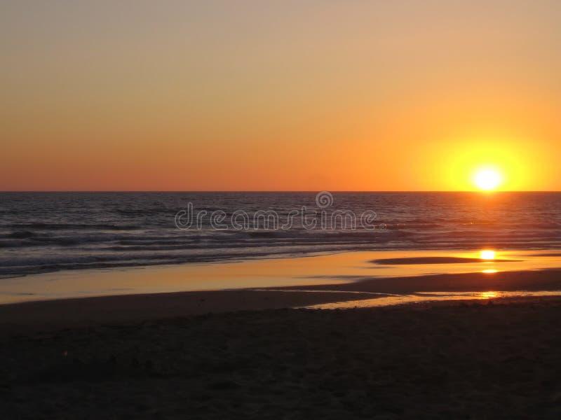 Strandsolnedgång Royaltyfri Bild