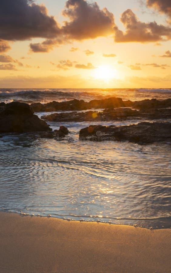 Strandsoluppgång arkivbild