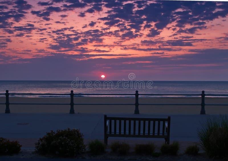 strandsoluppgång virginia fotografering för bildbyråer