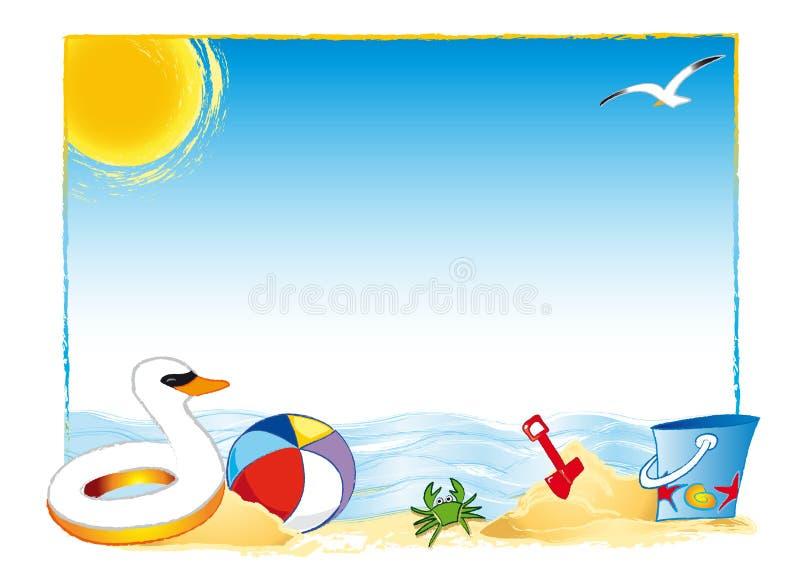 strandsommar royaltyfri illustrationer