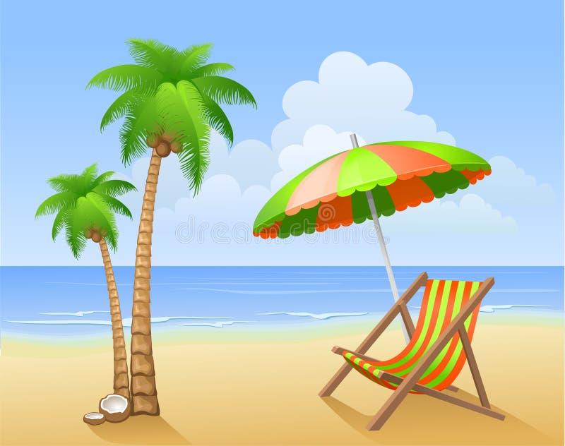 strandsommar vektor illustrationer
