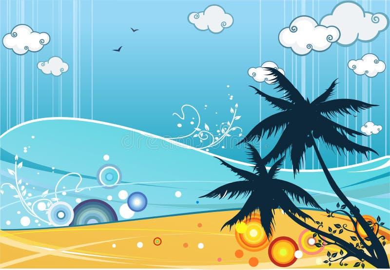 strandsommar stock illustrationer