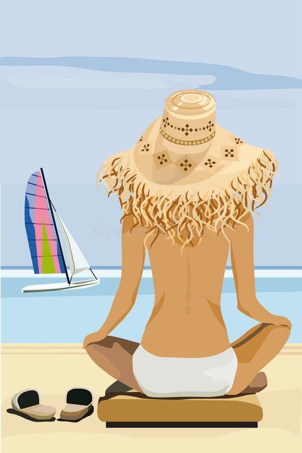 strandsommartid royaltyfri illustrationer