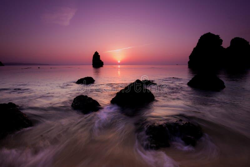 Strandsonnenuntergang lizenzfreie stockfotografie