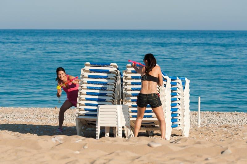 Strandspaß lizenzfreies stockbild