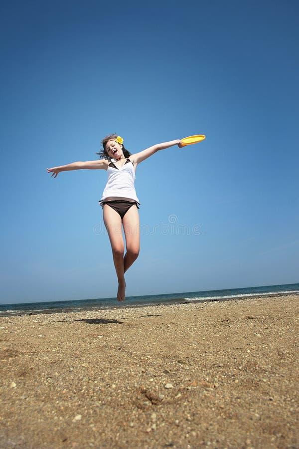 Strandspaß lizenzfreie stockbilder