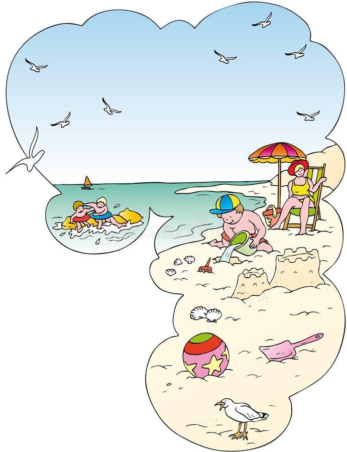 Strandspiele vektor abbildung