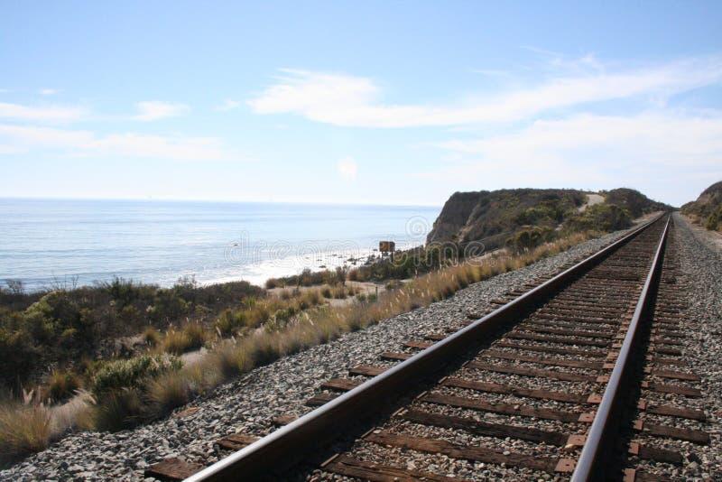 Strandspoorweg stock fotografie