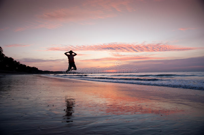 strandsportar arkivfoto