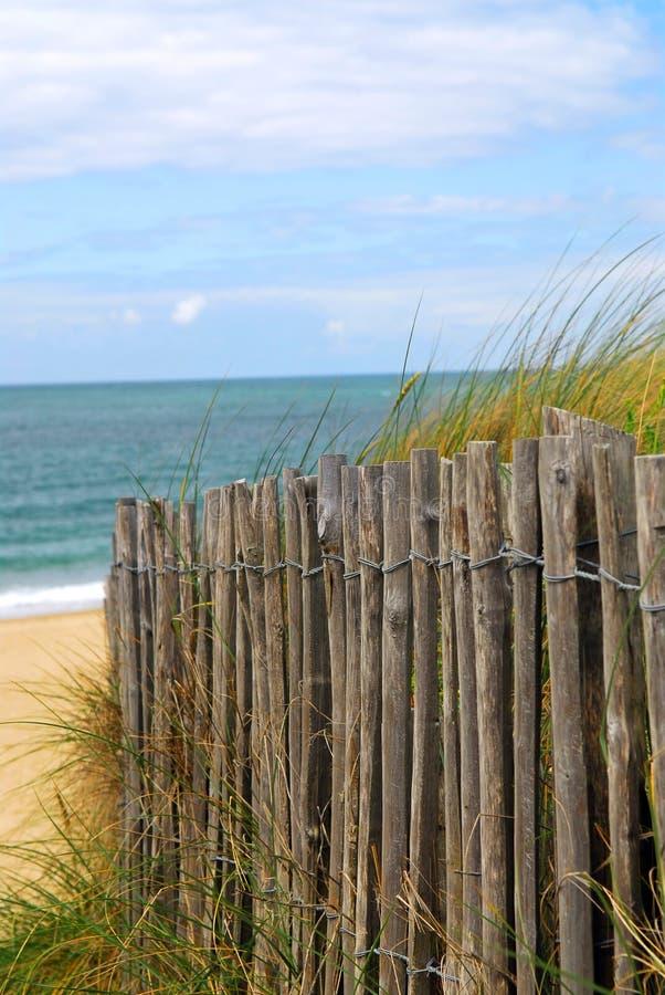 strandstaket arkivbilder