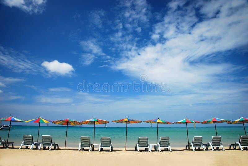 Strandstuhl lizenzfreies stockbild