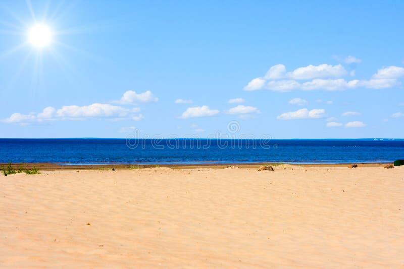strandsun arkivfoto