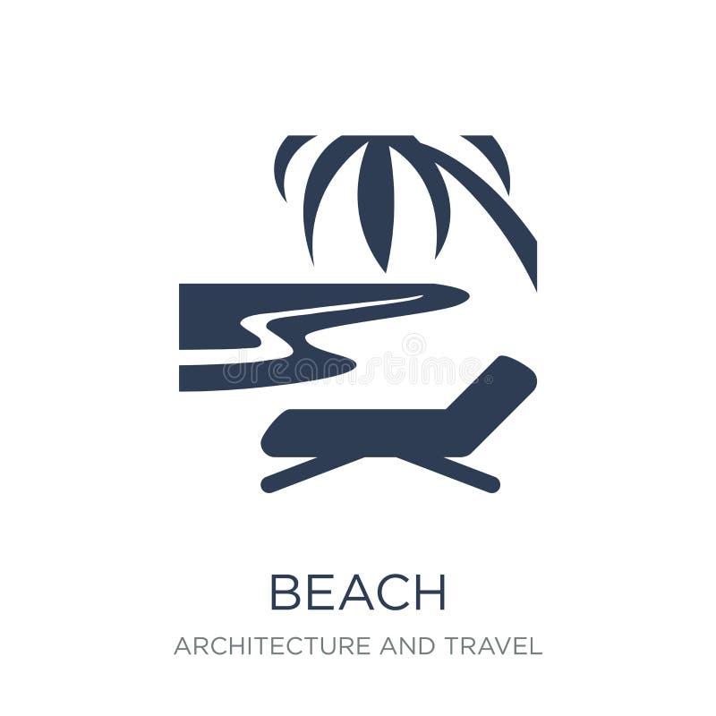 Strandsymbol  stock illustrationer