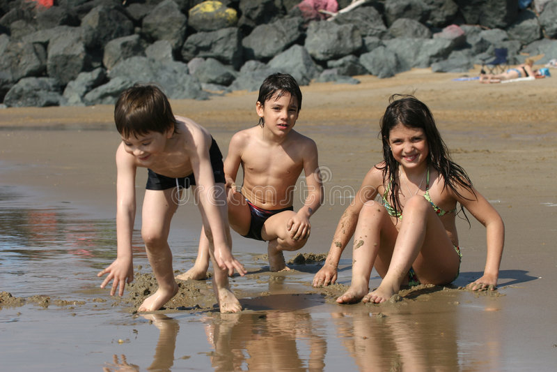 Strandszene stockfoto
