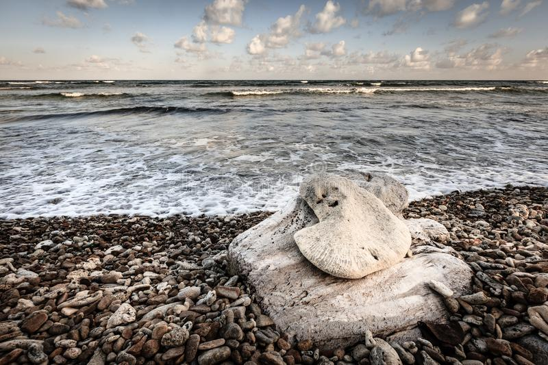 Strandszene in den Britischen Jungferninseln lizenzfreies stockfoto