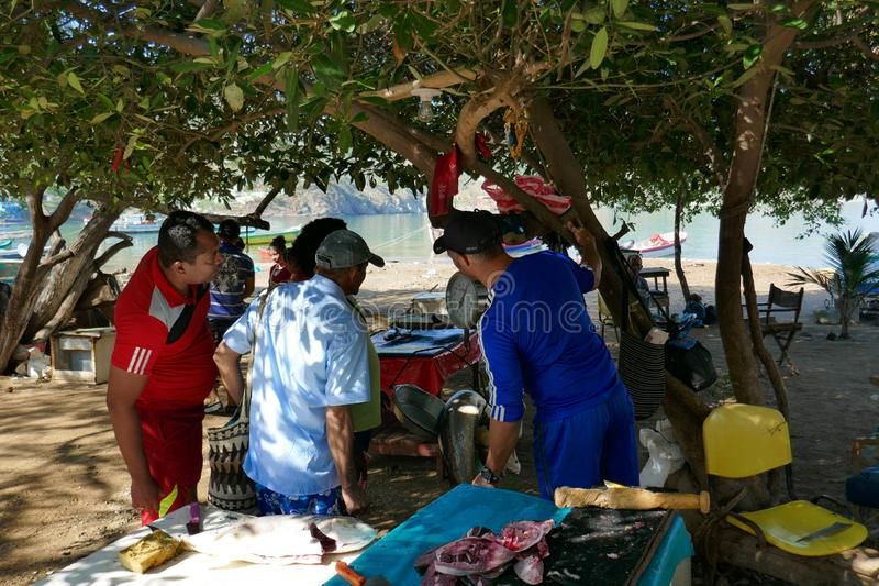 strandtaganga, santa Marta stock afbeeldingen