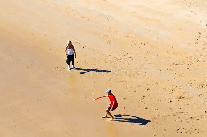 Strandtennis stock afbeelding