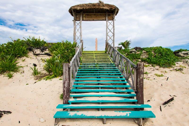 Strandtreden stock afbeelding