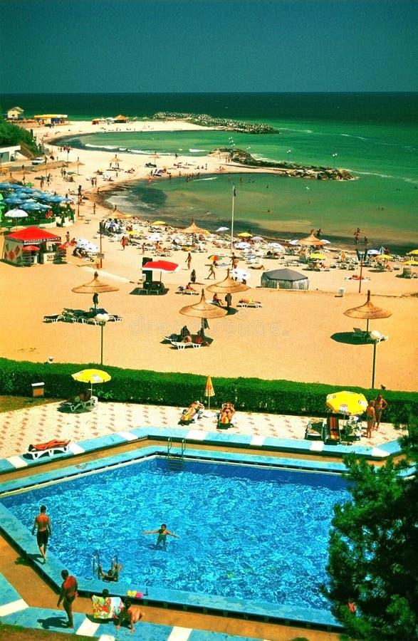Strandurlaubsort auf Schwarzem Meer lizenzfreie stockfotografie