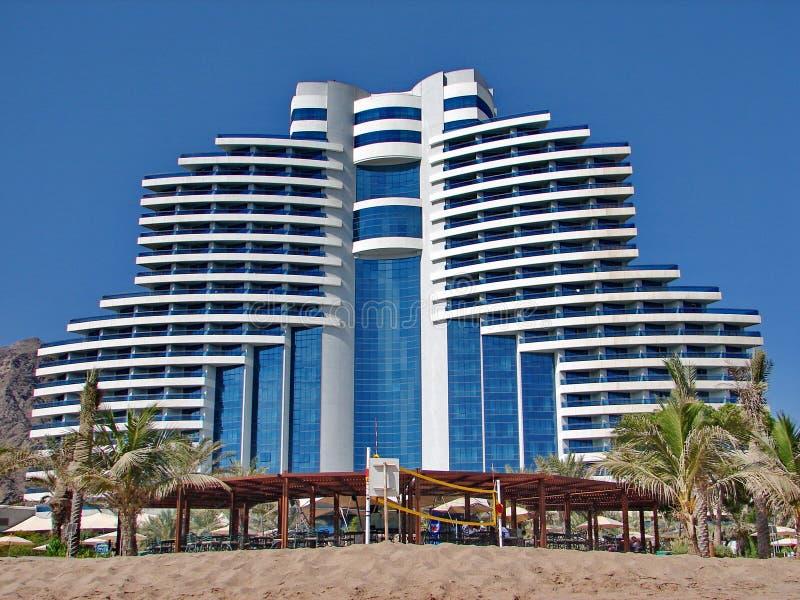 Strandurlaubsort Hotelle Meridien Al Aqah lizenzfreies stockbild