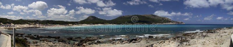 Strandurlaubsort in Mallorca stockbilder