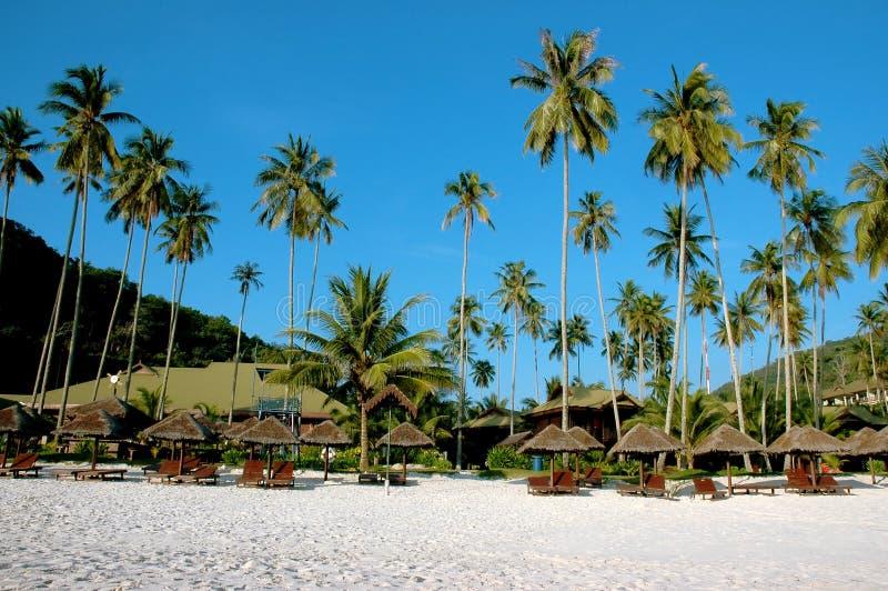 Strandurlaubsortlandschaft lizenzfreies stockbild