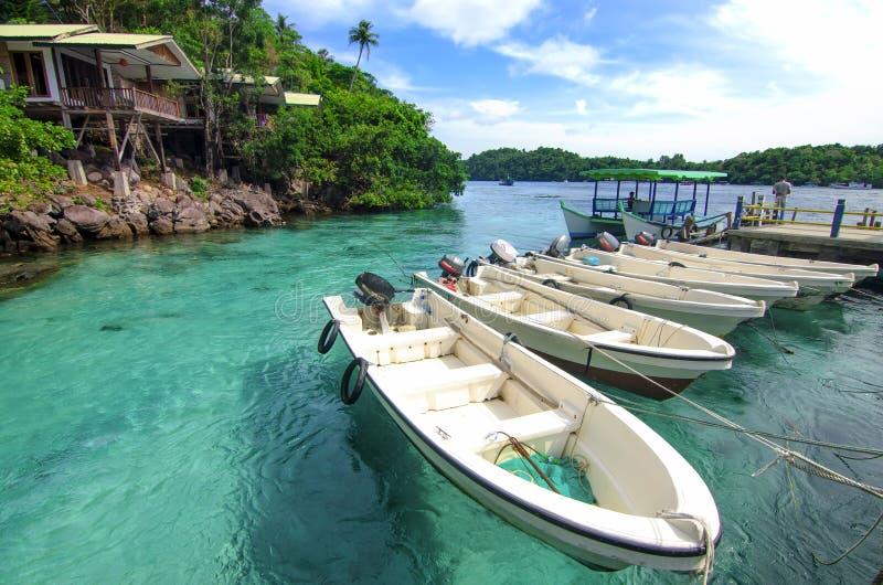 Strandurlaubsorts im sabang Aceh, Indonesien lizenzfreie stockfotografie
