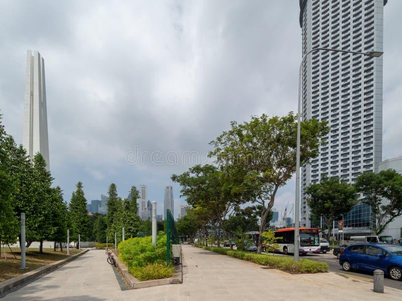 Strandv?g, Singapore arkivbild