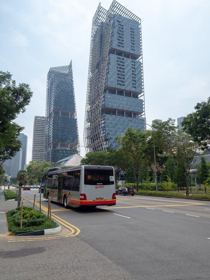 Strandv?g, Singapore arkivfoton