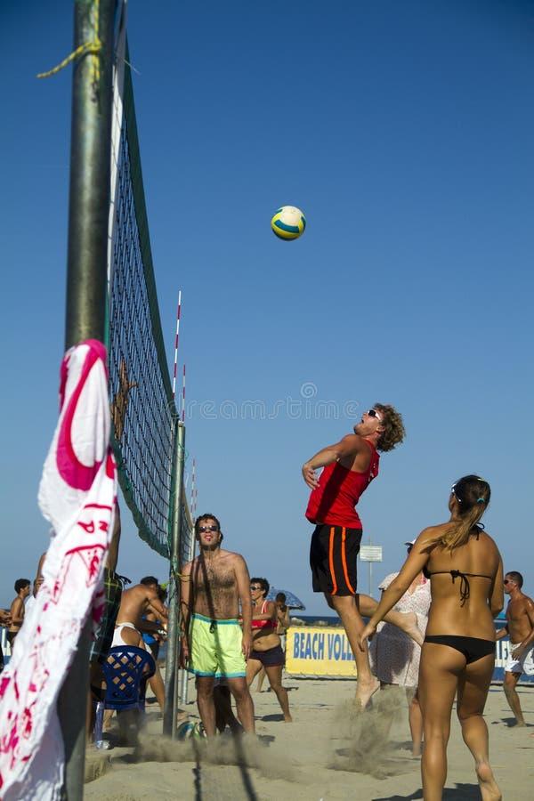 Strandvolleyball royalty-vrije stock afbeelding