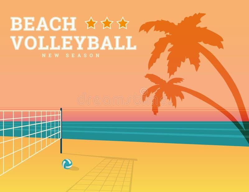 Strandvolleyballjahreszeit lizenzfreie abbildung