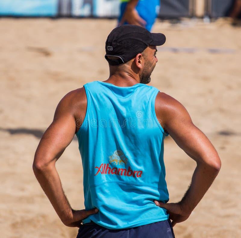 Strandvolleyballturnier lizenzfreie stockfotografie