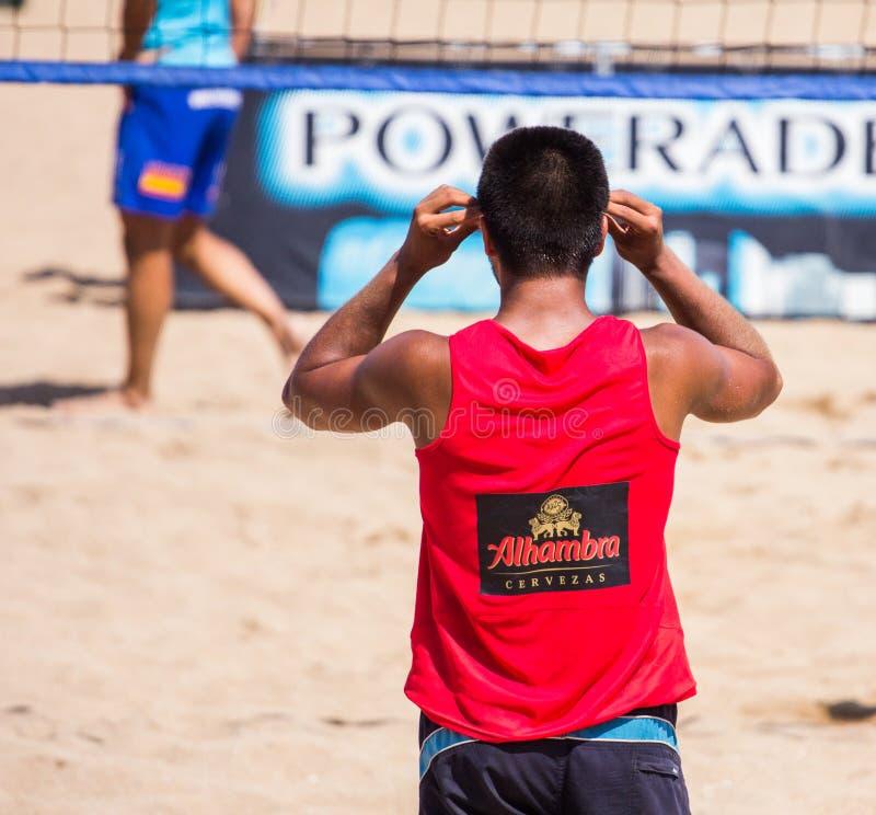 Strandvolleyballturnier lizenzfreies stockfoto