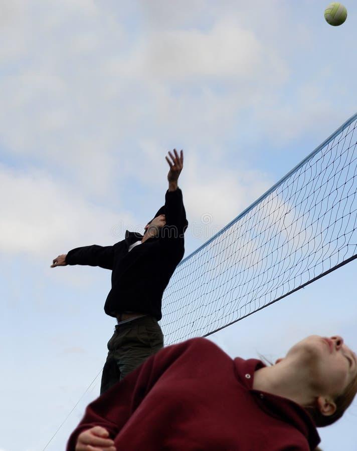 Download Strandvolleyboll fotografering för bildbyråer. Bild av strömförande - 31325