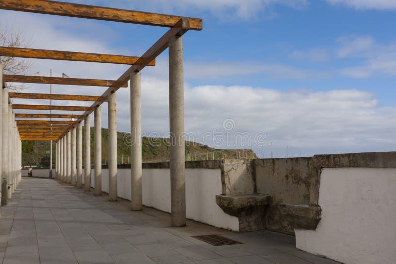 Strandwand in den Azoren lizenzfreie stockfotos
