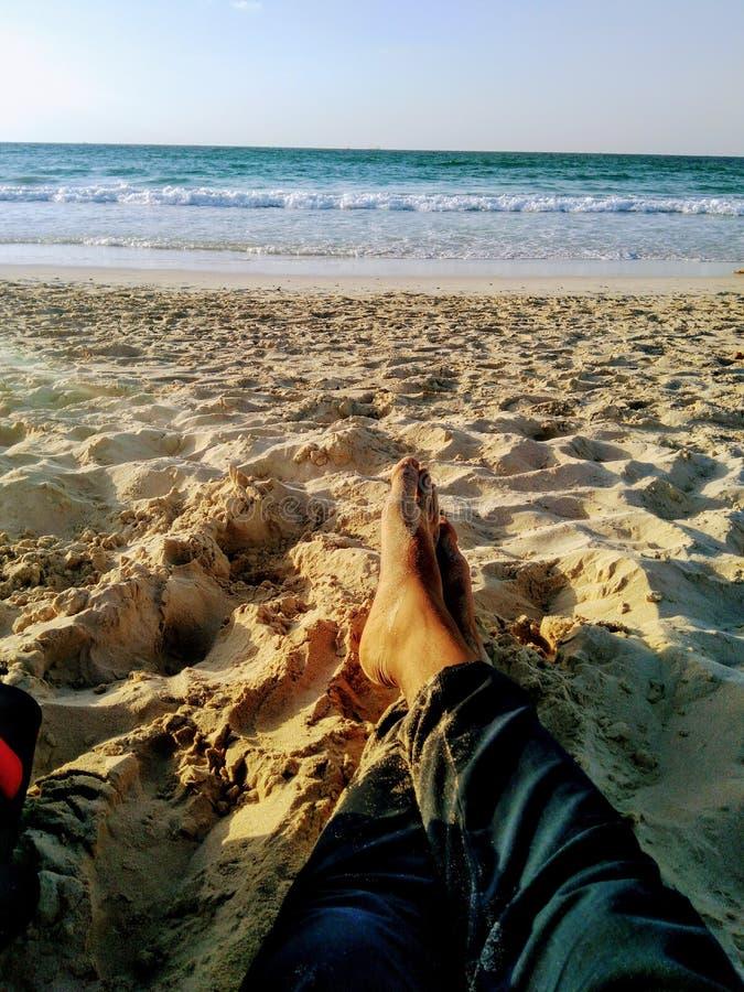 Strandzeit lizenzfreie stockfotos