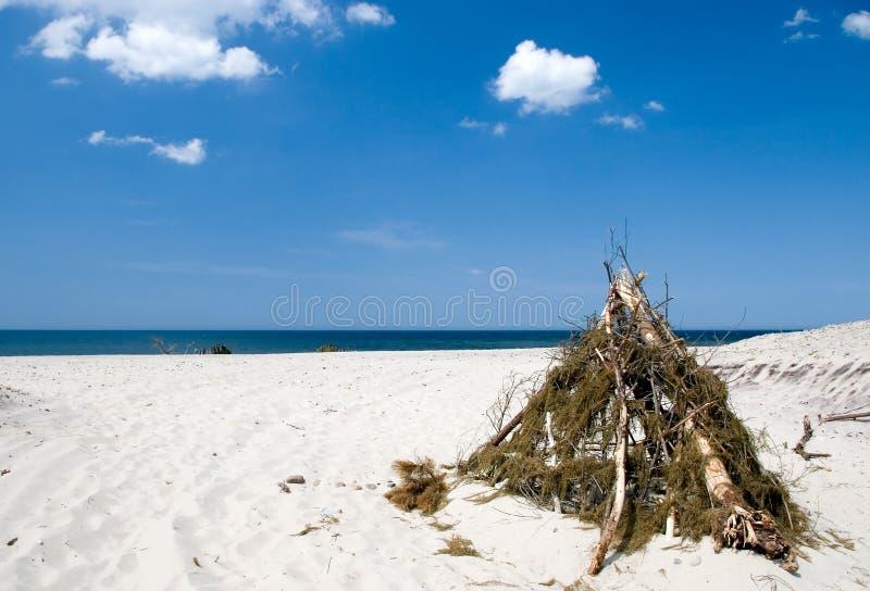 Strandzelt stockfoto