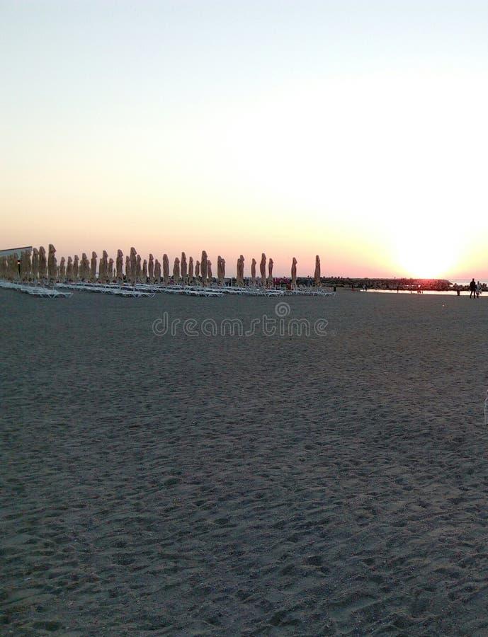 Strandzonneschijn stock afbeeldingen