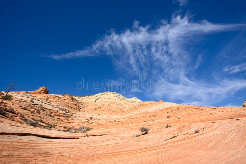 Strange Cloud Formation in Zion National Park stock photos