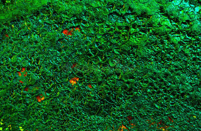 Strange color fantastic abstract background, wallpaper, texture emerald color stock image
