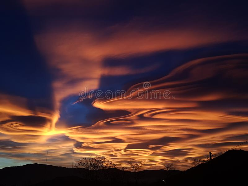 Strange Days Exploding Sky scene. Strange Days Exploding skyes sunset , perfect for background or desktop stock image