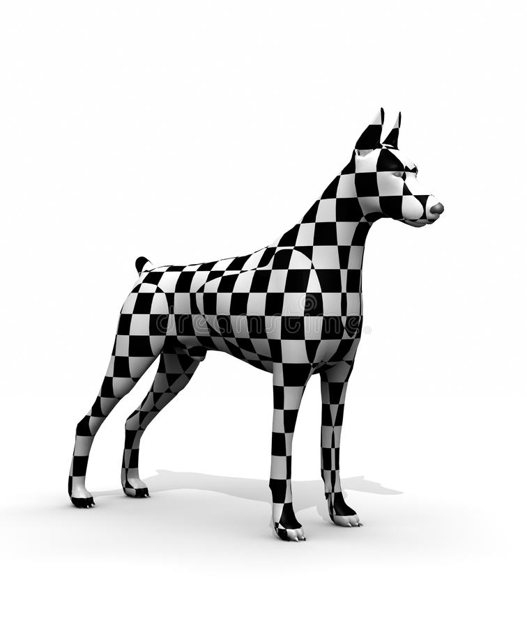 Strange dog. With square on your skin royalty free illustration